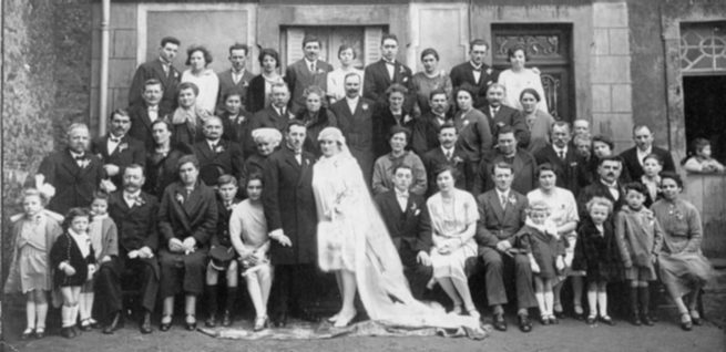noce � Evron 1928: mes grand-parents maternels